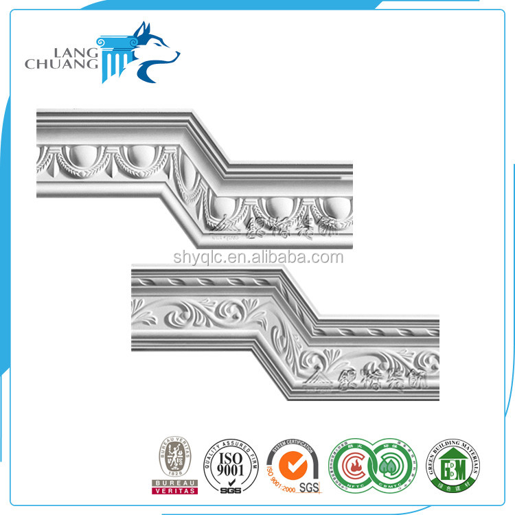 For Office Fireproof Fiberglass Ceiling Design Handcraft Gypsum Cornice