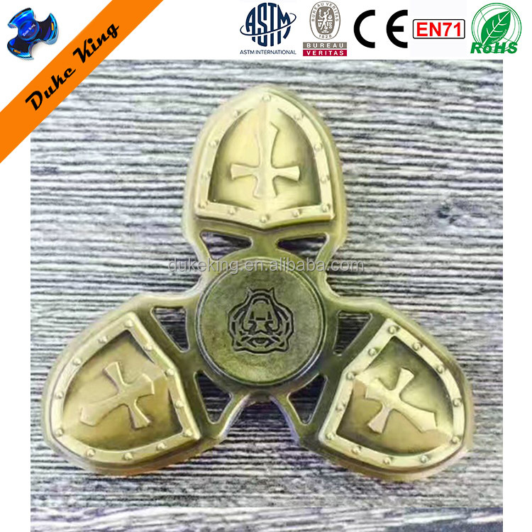Copper Brass Fidget Spinner - DK242 Cross Crusader Alloy Finger Spinner EDC Hand Spinner