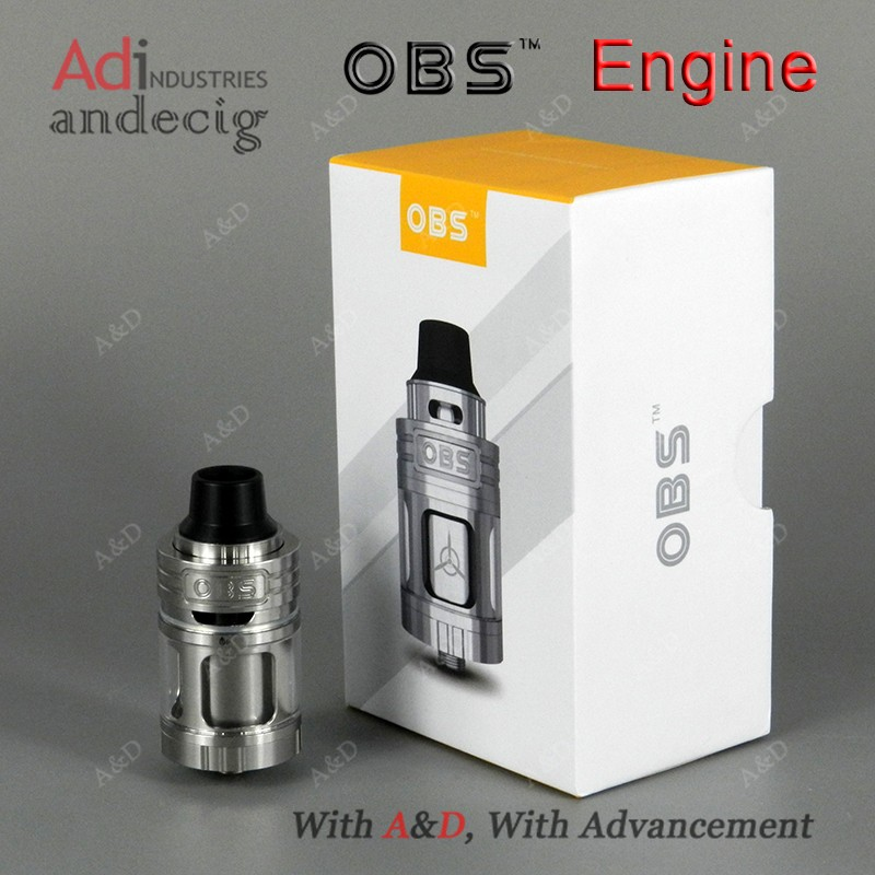 OBS new Engine RTA Tank,the e-juice is 5.3ml ,with a amazing high-performance tank .with a top ariflow and side filling