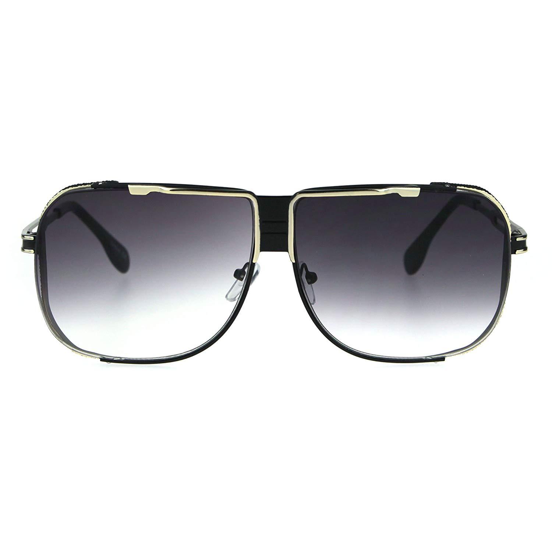 c1a60fac62662 Get Quotations · Mens Gradient Lens Retro Oversize Aviator Racer Sunglasses