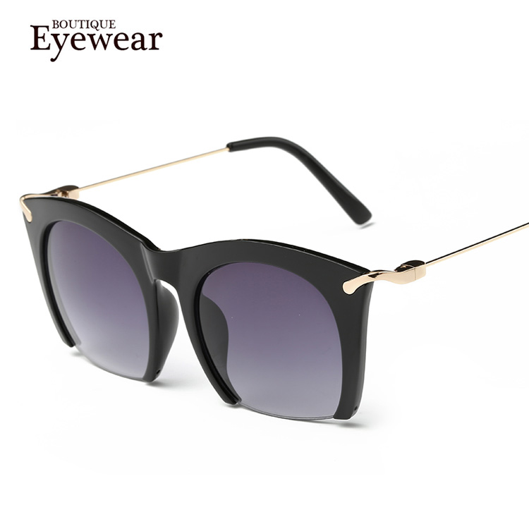 5d44e86b37 BOUTIQUE Brand half rim Sunglasses CAT EYE Sun shades lenses Half frame  goggles Women Tinted Sun