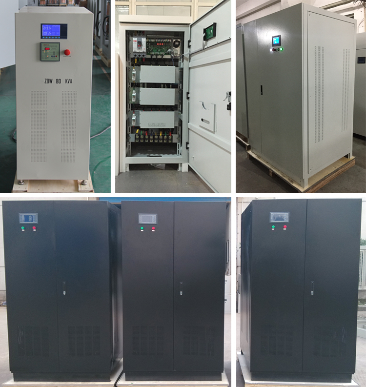 Tiga Tahap 600kva Tegangan Elektronik Regulator/Cerdas Voltage Regulator