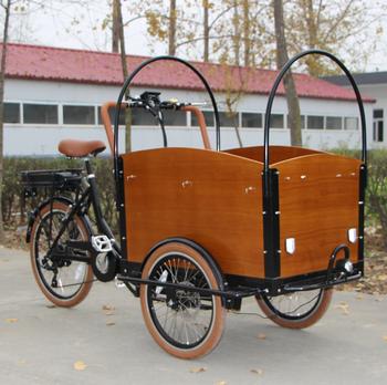 Brown Color Edward Wooden Box Front Wheels Retro Cargo Bike Buy Retro Cargo Bike Product On Alibabacom