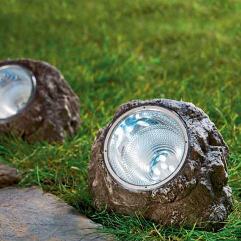 XLTD-505 Hot product Cixi solar light manufacturer led stone light/solar rock lights/solar lamp in garden