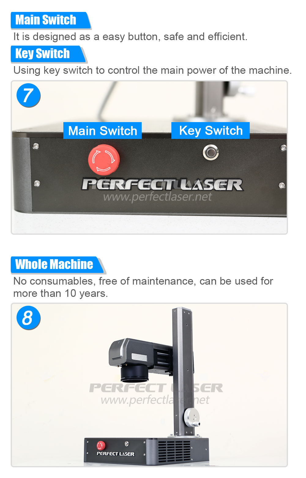 10W 20W Tabletop Mini Fiber Laser Marking Machine