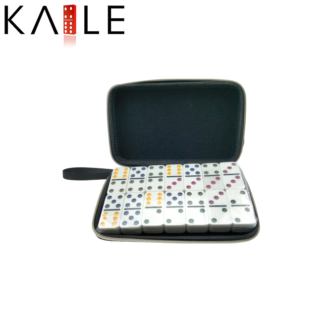 Hot selling Domino blocks game set with color dots