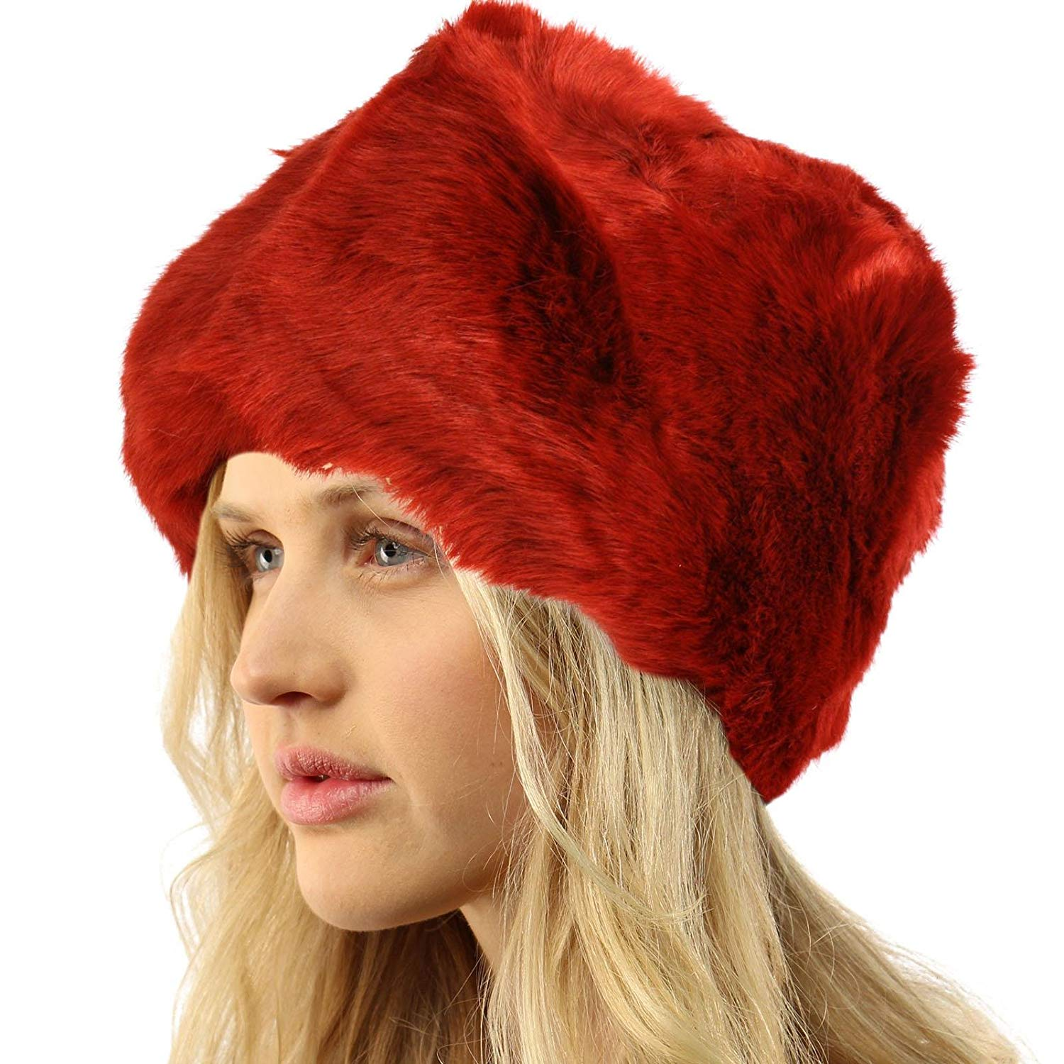 SK Hat shop Ladies Winter Soft Faux Fur Packable Russian Bucket Cloche Snow Ski Cap Hat