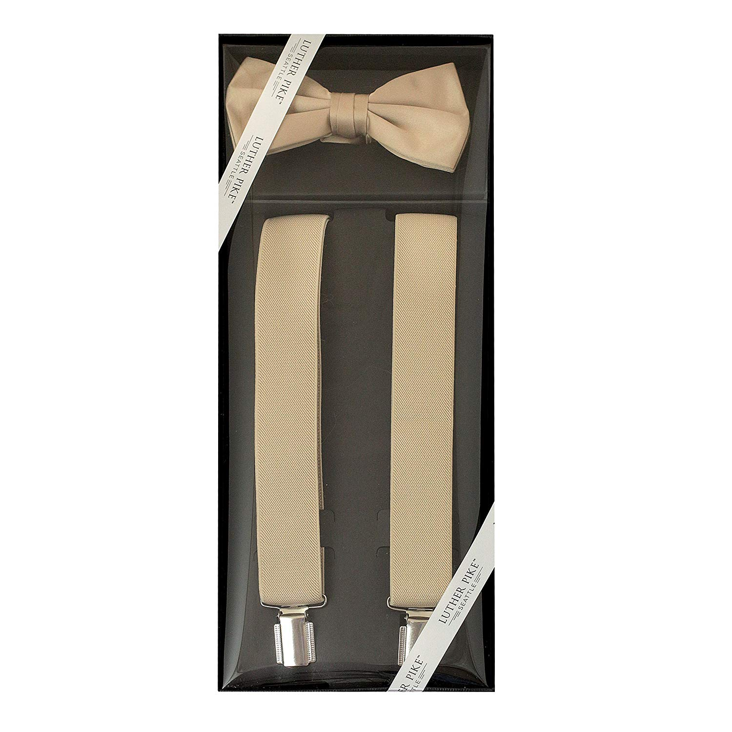 Mens Bow Tie And Suspenders Set For Men Gift Box | For Formal Dress Bowtie & Braces - Prom Dance Wedding Tuxedo
