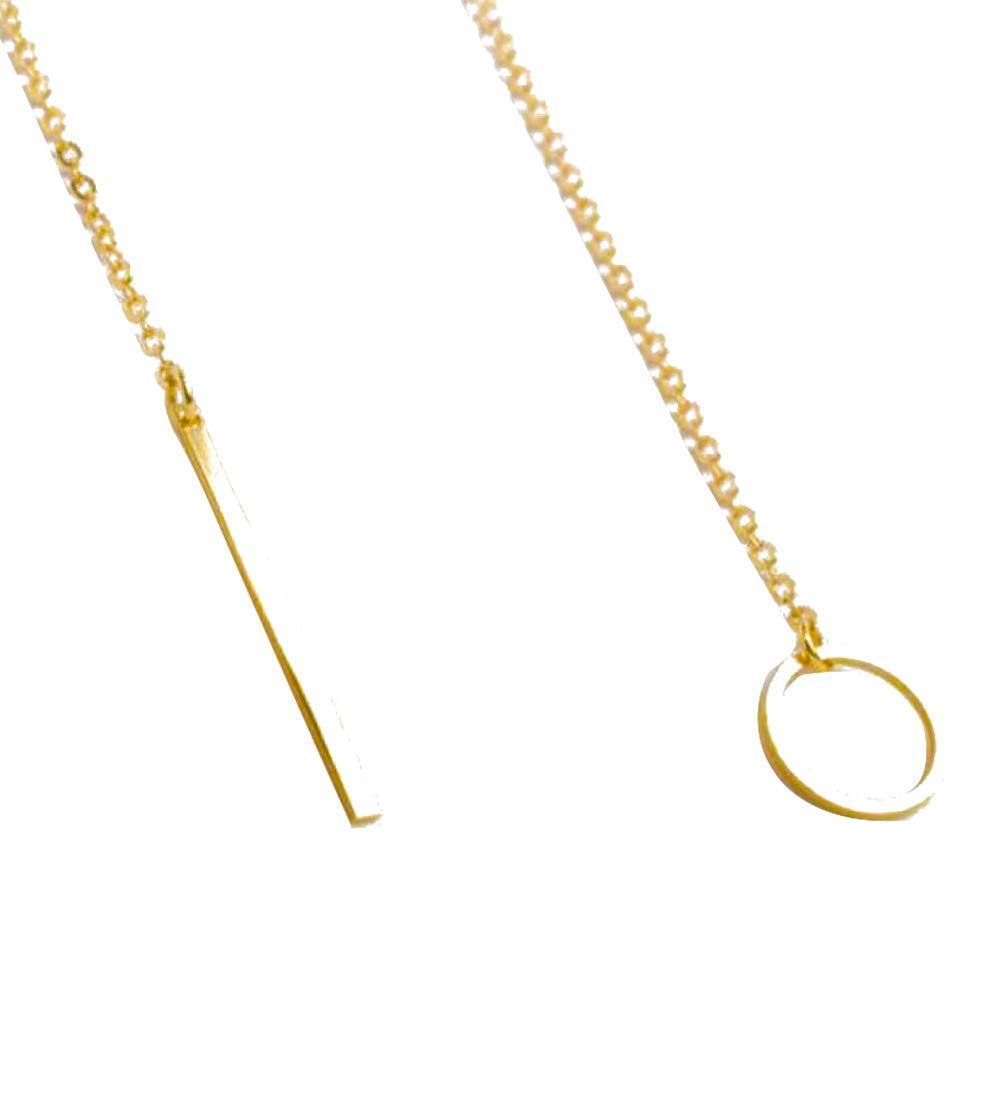 """Gbell Chic Y Shaped Circle Lariat Style Necklace - Girls Womens Chain Pendant Jewelry Gifts 1Pcs Gold 23.63"""""""
