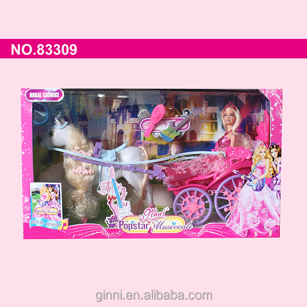 83309 ginni 2015 new toy!horse carriage Princess Barbie Fashion doll