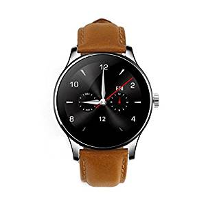 SmartWild Bluetooth Smart Watches K88H Classic Health Metal Smart Watch Heart Rate Monitor for Android ISO Phone Remote Camera Clock Pedomter Watch Phone