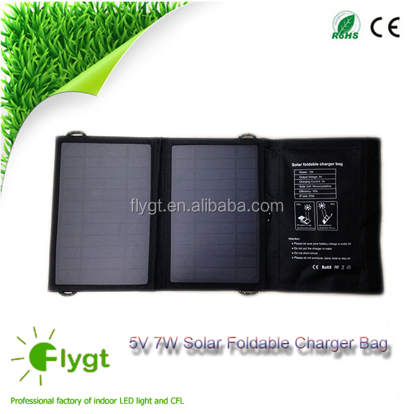 5V 7W enviroment renewable energy for charger ,USB port solar panel charger ,solar power chager the mobile
