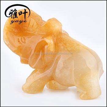 Bulk Wholesale Gemstones Yellow Jade Animal Figurines - Buy Miniature  Animal Figurines,Small Animal Figurines,Miniature Animal Figurines Product  on