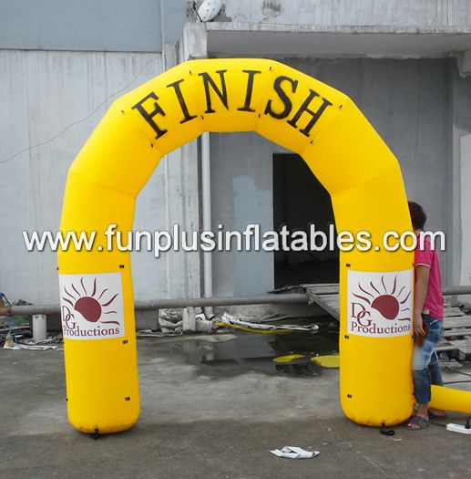 inflatable half round arches/yellow inflatable finish arches P1060