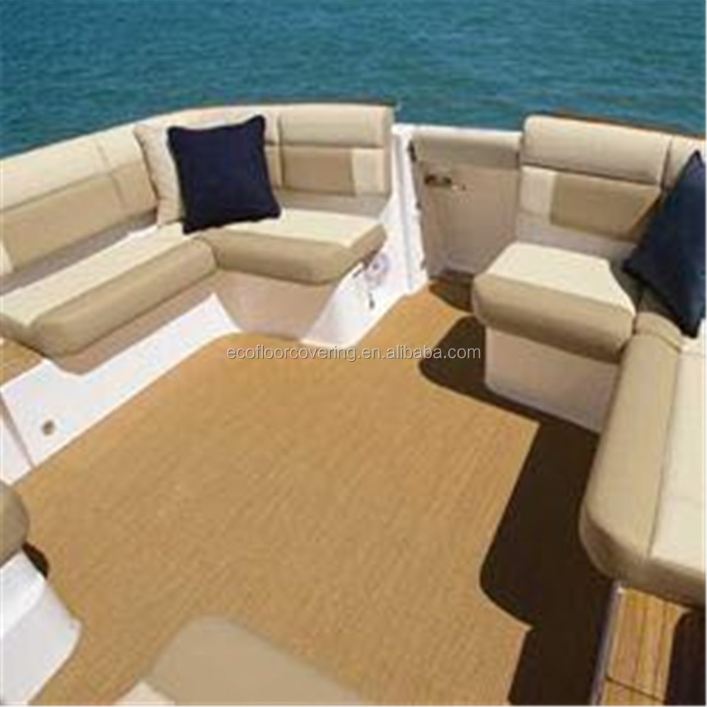 Eco beauty best price water proof woven vinyl flooring for boat bus commercial area