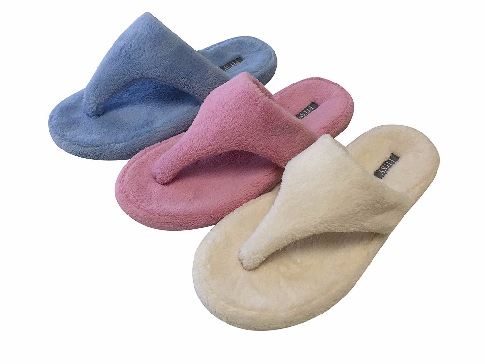 Women House Slippers Microterry Anti Slip TPR Sole