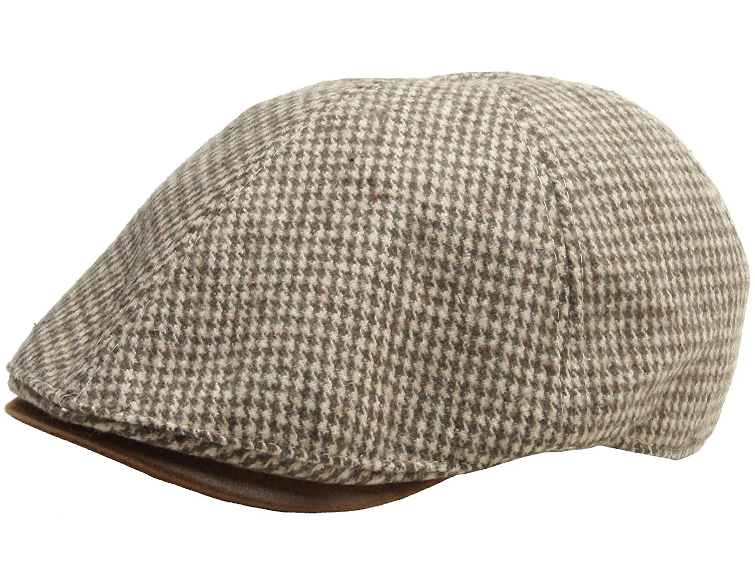Get Quotations · RaOn N267 Houndstooth Pattern Check newsboy Cap Cabbie Flat  Golf Gatsby Driving Hat 18fee87ec90b