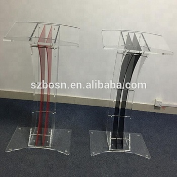 Coloured Interchangeable Acrylic Plexiglass Lucite Speaker's Lectern