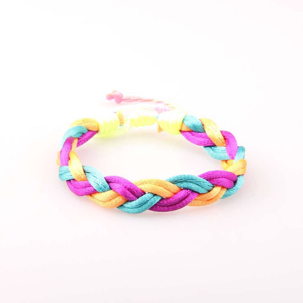 Wholesale Promotion Bracelet Europe and America Foreign Trade Bracelet Handmade Color Friendship Bracelet, As show (customize colors are available)