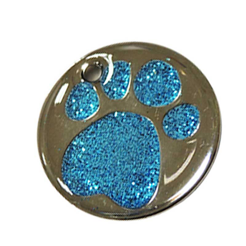 blue color mini paws dag tag for your dog