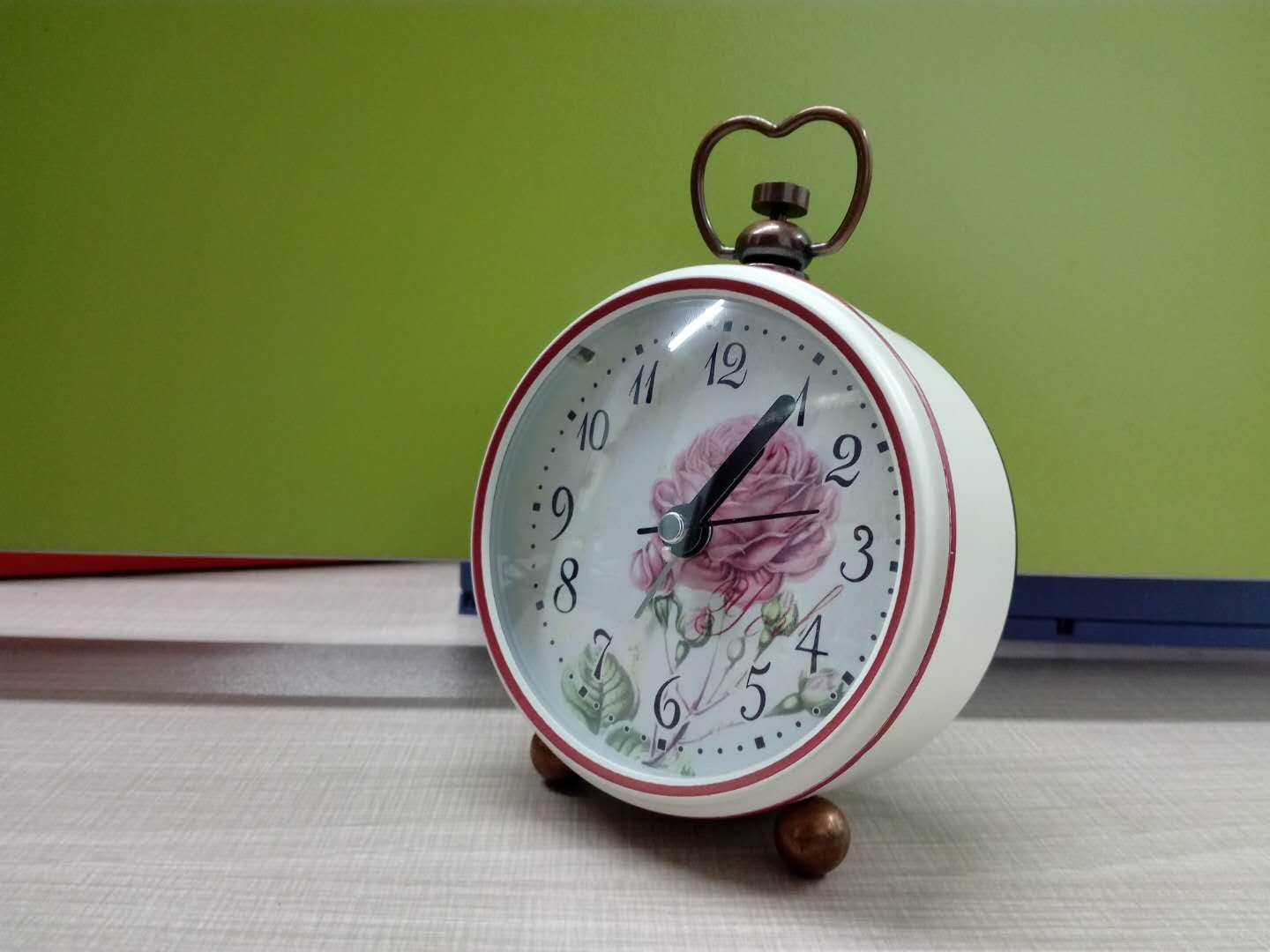 red Modern Kid Alarm Clock with cute shape at low price for retail and wholesales