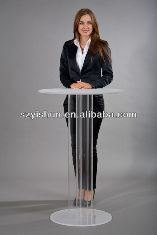 Customized acrylic lectern stand acrylic desk lectern