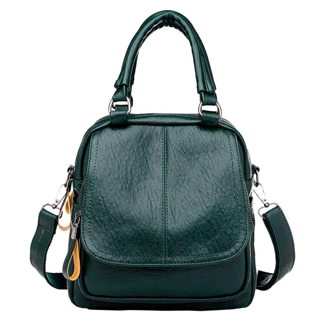 Get Quotations · Hmlai Women PU Leather Backpack Vintage College Satchel  Girl Student School Bag Travel Shoulder Rucksack Bag d2bfbca62b6ef