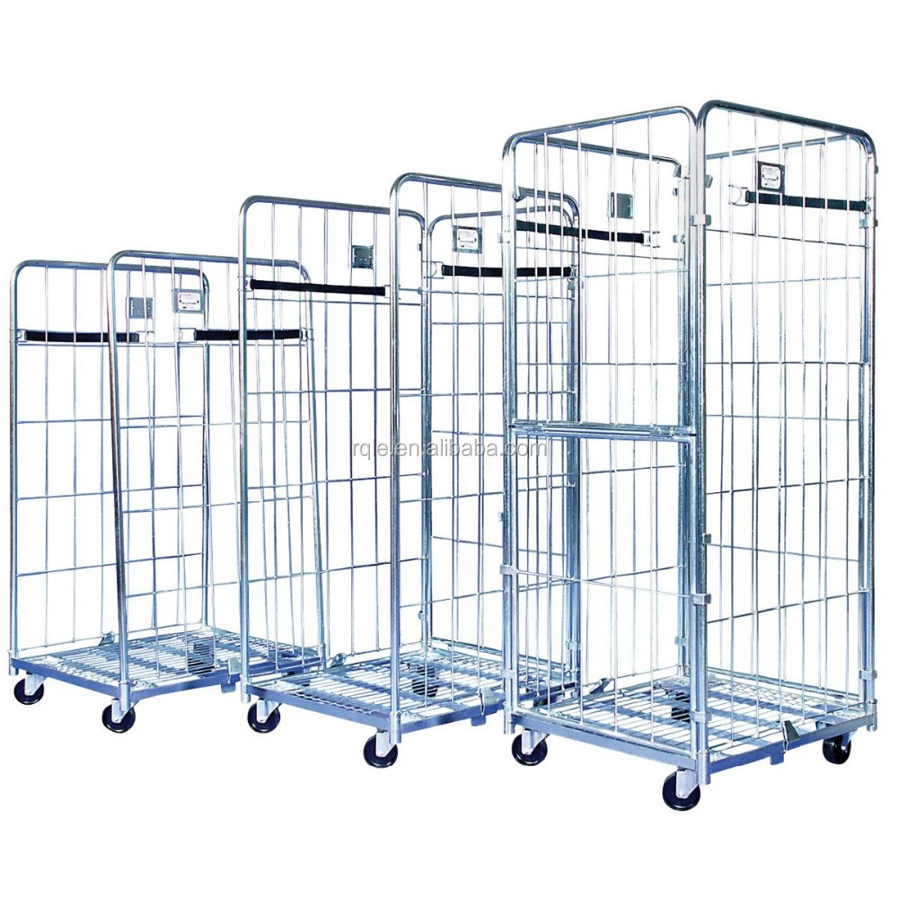 Moving Steel Foldable Storage Loading Trolley to Transport Goods
