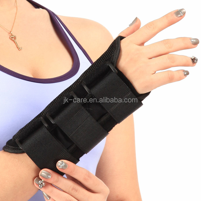 Black Adjustable Carpal Tunnel Wrist Splint wraps Hand Support CE FDA Approved custom wrist support brace