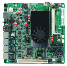 China <span class=keywords><strong>Fabrik</strong></span> werbe Atom D2550 12 v lan ethernet ports firewall motherboards 4 nic