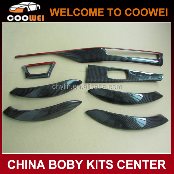 Top Quality Carbon Fiber red frame Interior Dash Kit F30 LHD Dashboard Parts Sticker Interior Trim for BMW F30 Dashboard