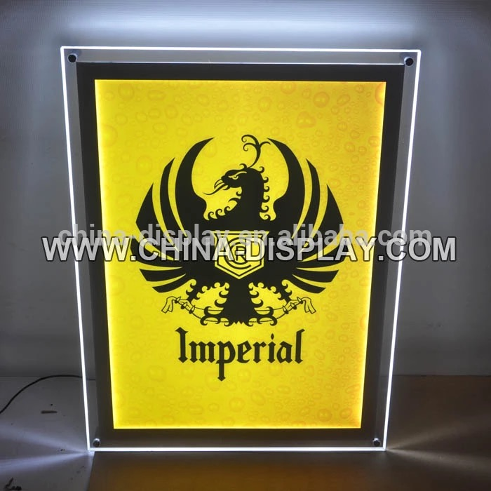 2017 Wall mounted acrylic led light product display light box signs