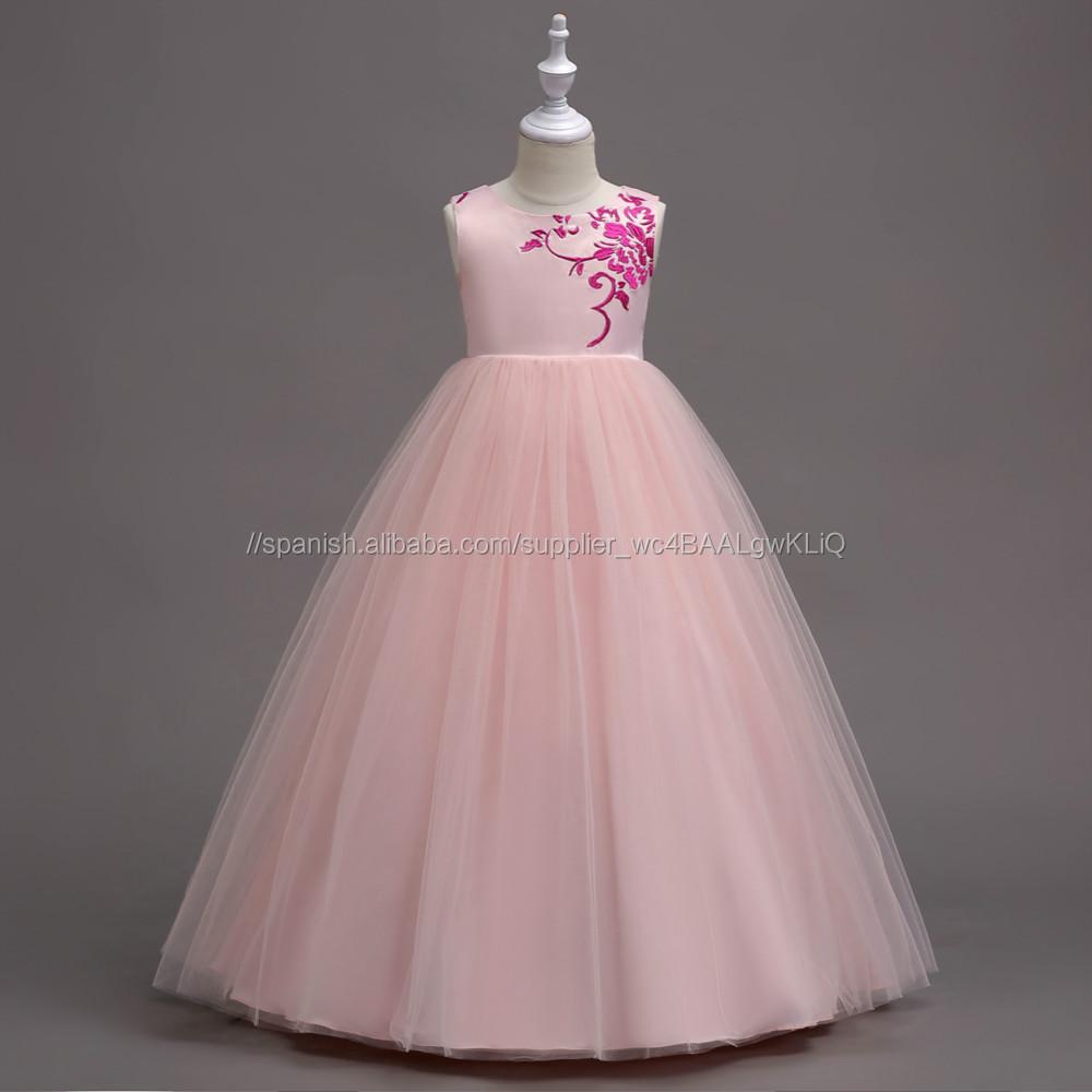 Venta al por mayor vestidos de boda de colores para niños-Compre ...