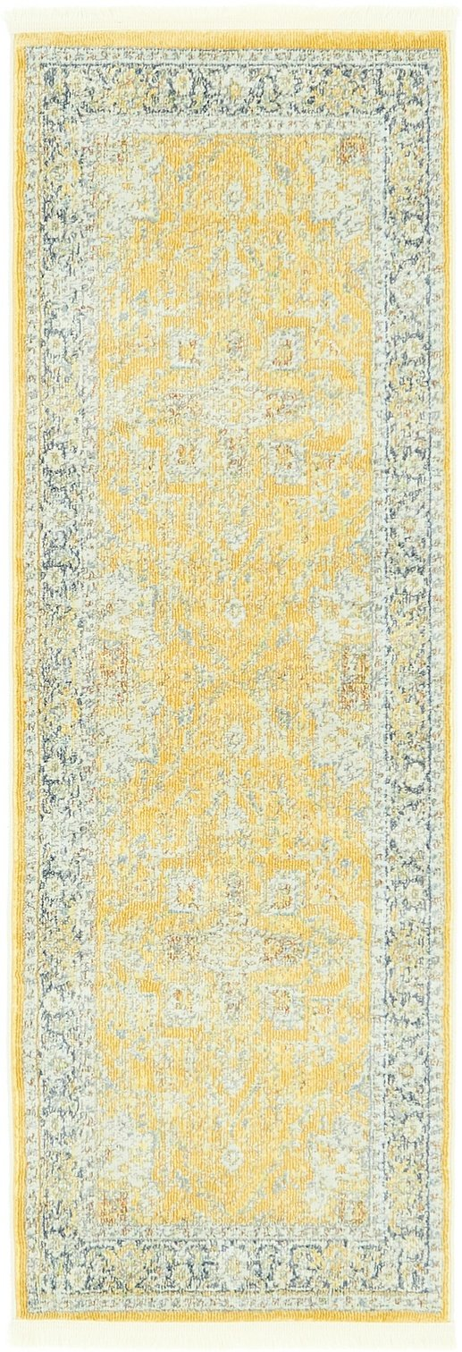 A2Z Rug Yellow 2' 2 x 6' Feet Runner St. Tropez Collection Traditional and Modern Area Rugs and Carpet