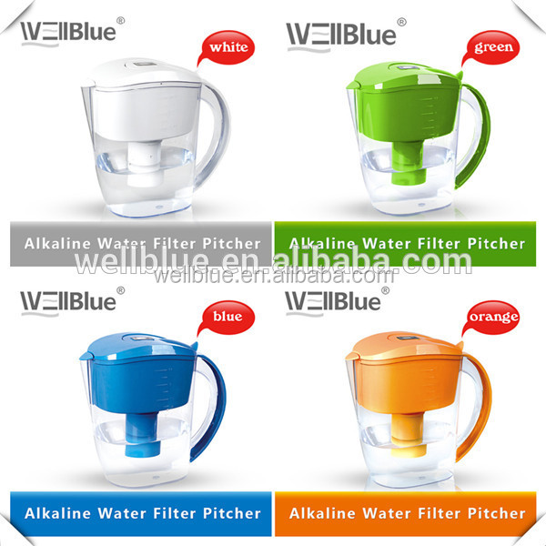 Specialized Filter out Chlorine and Other Contaminants Jug Water Pitcher Filter (pH 8.5-10.5 to , ORP: -100mv to -200mv)