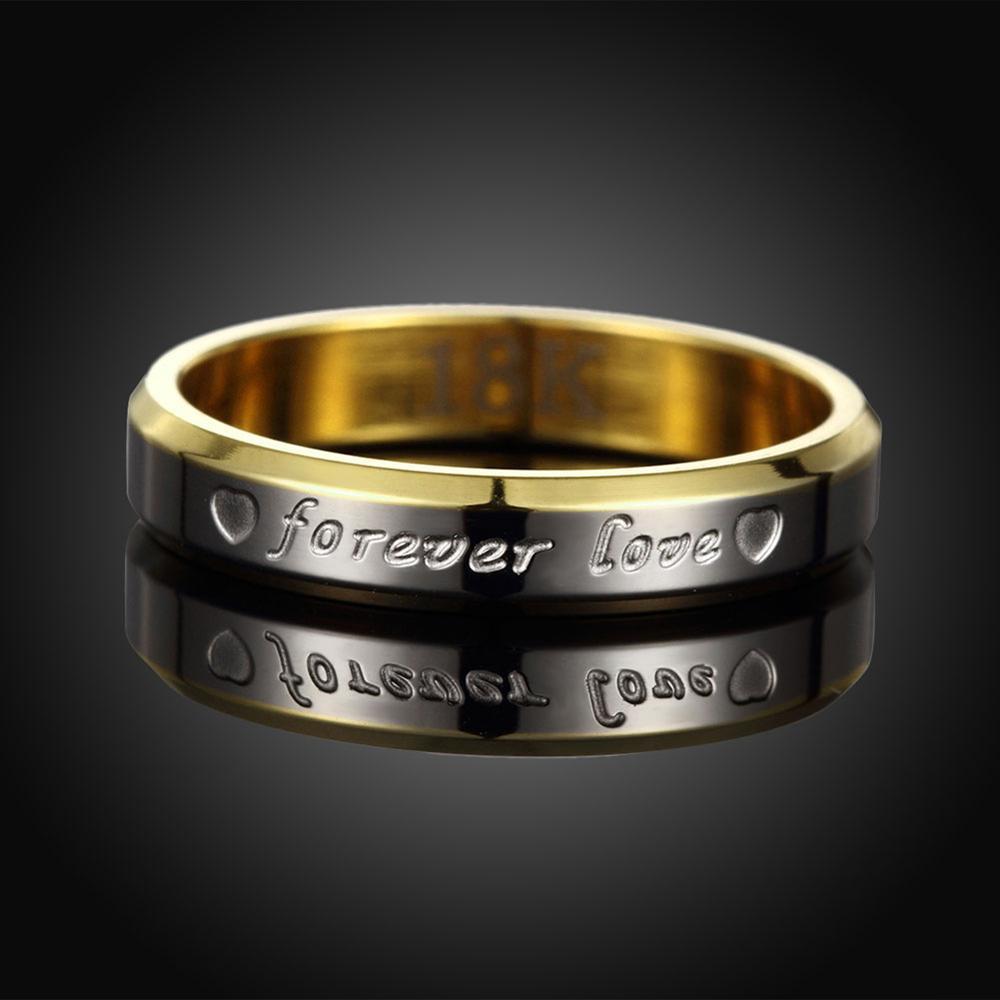88952a9b66e0 Tryme nunca se desvanecen 18 K chapado en oro 316L anillo de acero  inoxidable de acero