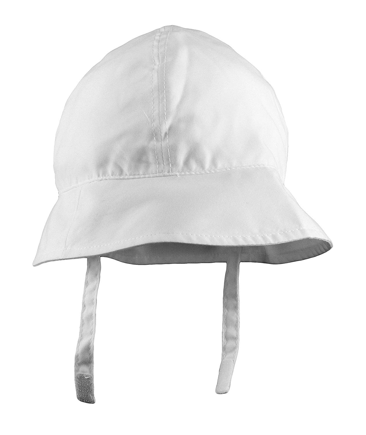 Get Quotations · Baby Classic White Bucket Hat with Chin Strap - UV 50+ 03955d264051