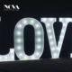 Customized Shape Advertising Illuminated Acrylic Signs Led Front Lit Channel Free Standing Love Letters For Wedding Party