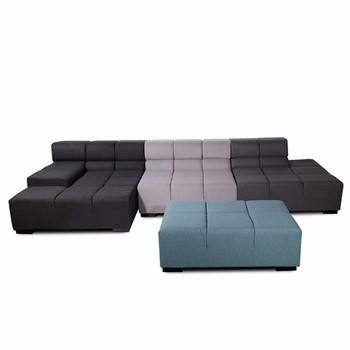 Fabric Corner Sofa Set Living Room Tufted Modern Sectional Modular ...