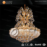 yellow crystal swan chandelier,big size pendant lamp OW569