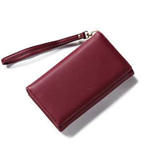 Nice Hand Customize Women's PU Leather Long Wallet