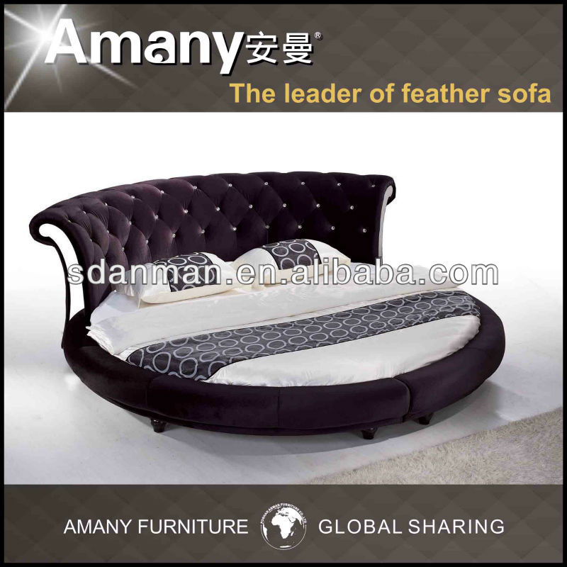 Round Bed On Sale Round Bed On Sale Suppliers And Manufacturers - Black leather round bed
