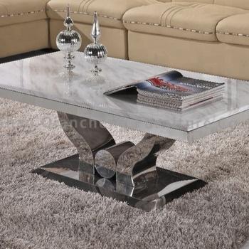 Modern Granite Top High Gloss Coffee Table Design