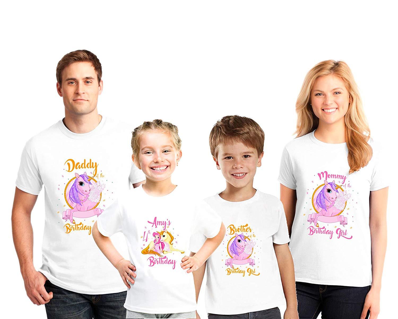 Get Quotations Personalized Family Birthday Shirts Princess Shirt Kids Matching
