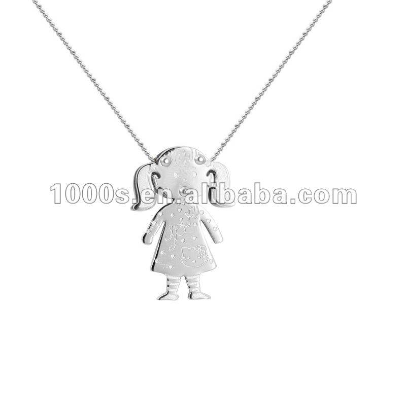 pendant girl boy necklace epicenterjewelleryco white solid on pin by outline gold baby