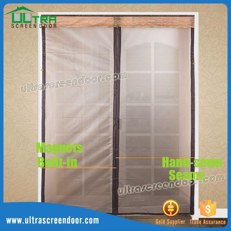 Winter Thermal Insulated Patio Door Curtains Magnetic Screen Door
