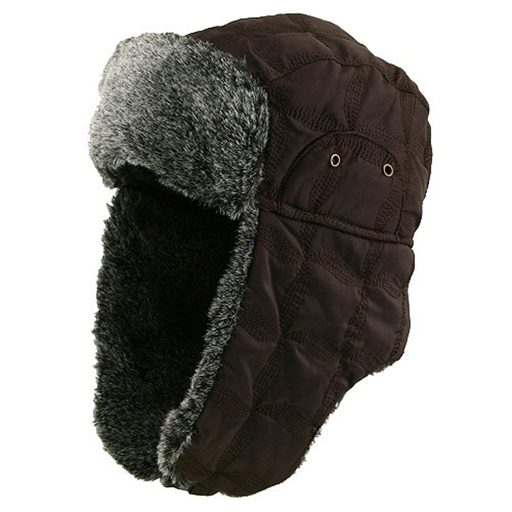 d581b818 Get Quotations · MinLee/Star/Vivian Unisex Stitched ML Winter Trooper Hat -  Brown