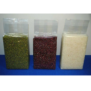 Transparent Rice brick bag vacuum rice packing middle sealing bag