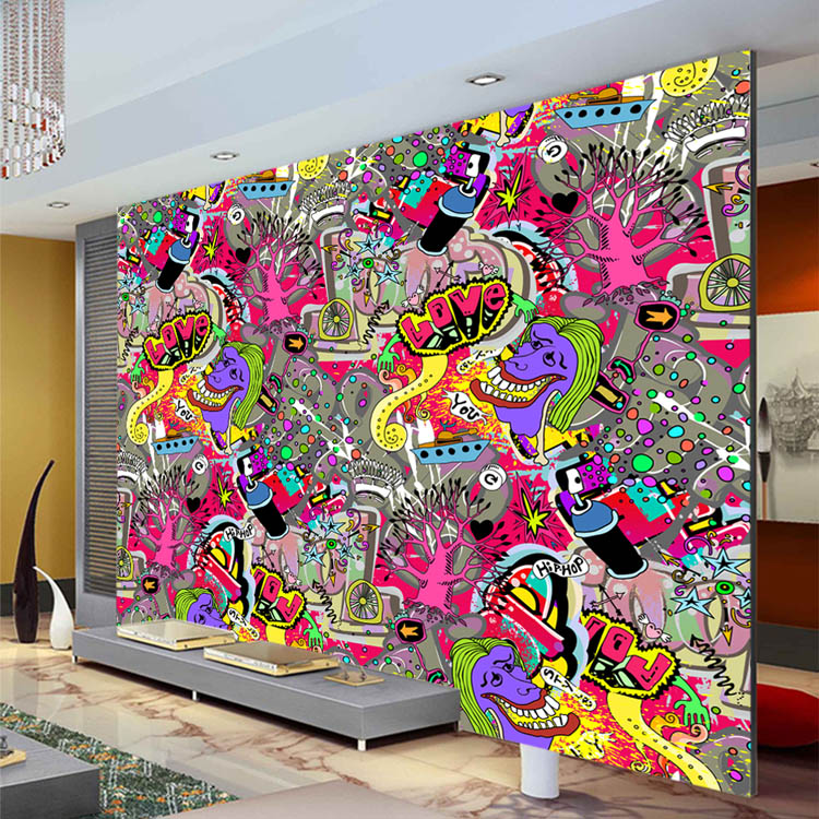 Graffiti Bedroom Art Paint Colors For Bedroom Youth Bedroom Sets Simple Little Boy Bedroom Ideas: Graffiti Boys Urban Art Wallpaper 3D Photo Wallpaper