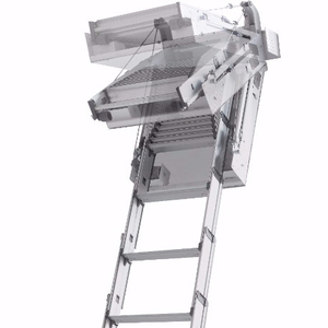 9 steps Motor loft ladder with remote control